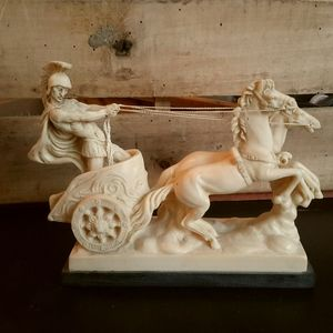 - Roman soldier with horse and chariot